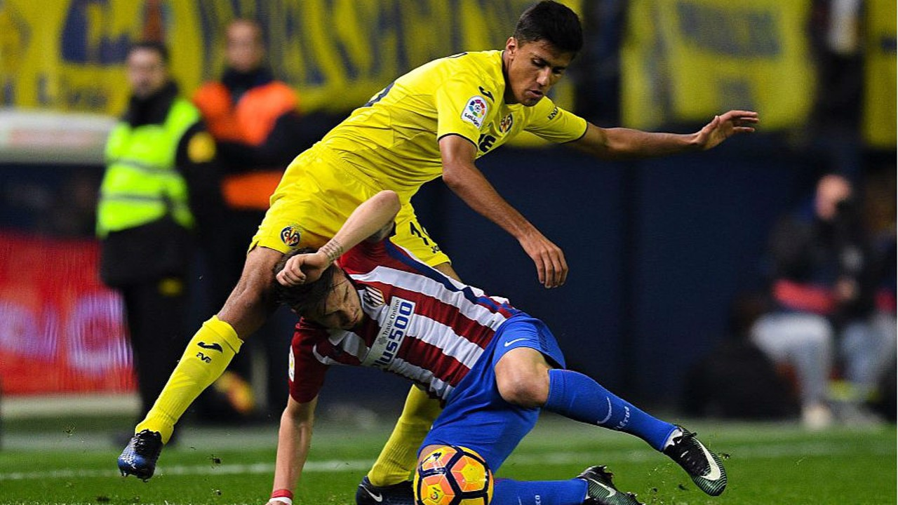 ACTION STATIONS: Rodri in action for Villarreal against Atletico Madird in a La Liga game from 2016