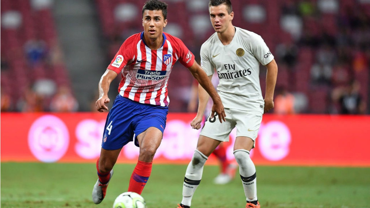 STAR IN STRIPES: Rodri also impressed in Atletico's International Champions Cup clash against Paris St Germain