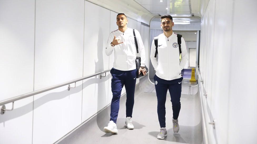 TRAINING BREAK: Danilo and Ilkay Gundogan