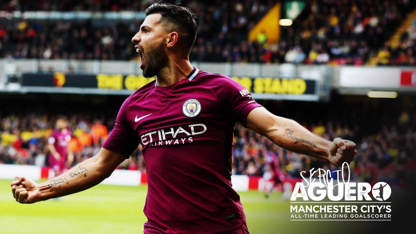 Aguero pencetak gol terbanyak City sepanjang masa