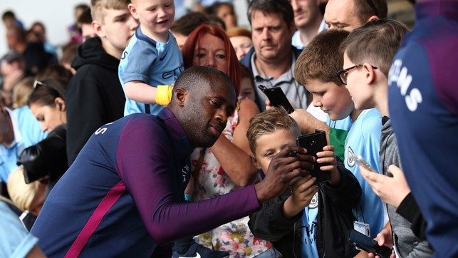 SNAP HAPPY: Picture time for Yaya.