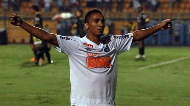 2010: Newly-signed Santos star Danilo