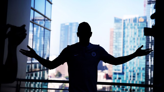 CITY VIEW: Danilo with an LA backdrop