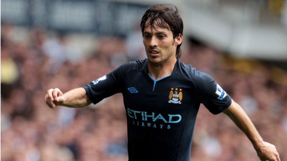 DEBUT: Silva made his first appearance in a City jersey against Tottenham on 14 August 2010, the game ended 0-0.