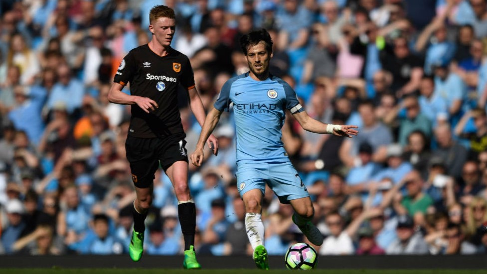 300 FOR CITY: During our 3-1 win over Hull, Silva not only captained the side but also made his 300th appearance in a City shirt.