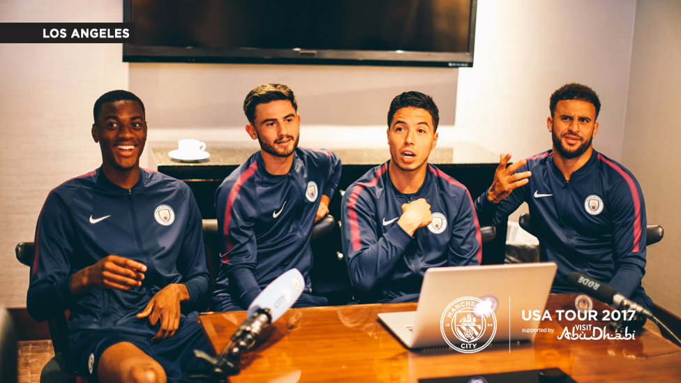DIFFERENT EXPRESSIONS: The lads get stuck in