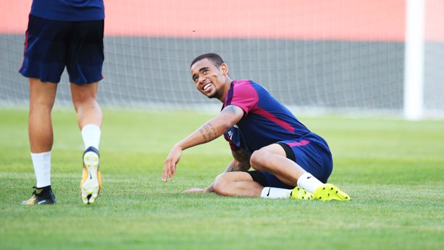 PLAY TIME: Gabriel Jesus involved in fun and games.