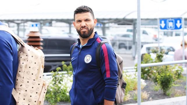 FUNNY FACE: Sergio spots the camera!