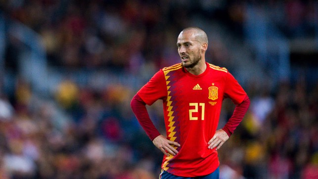 STRIKE TWICE: David Silva found the back of the net twice for Spain during their emphatic 5-0 victory over Costa Rica.
