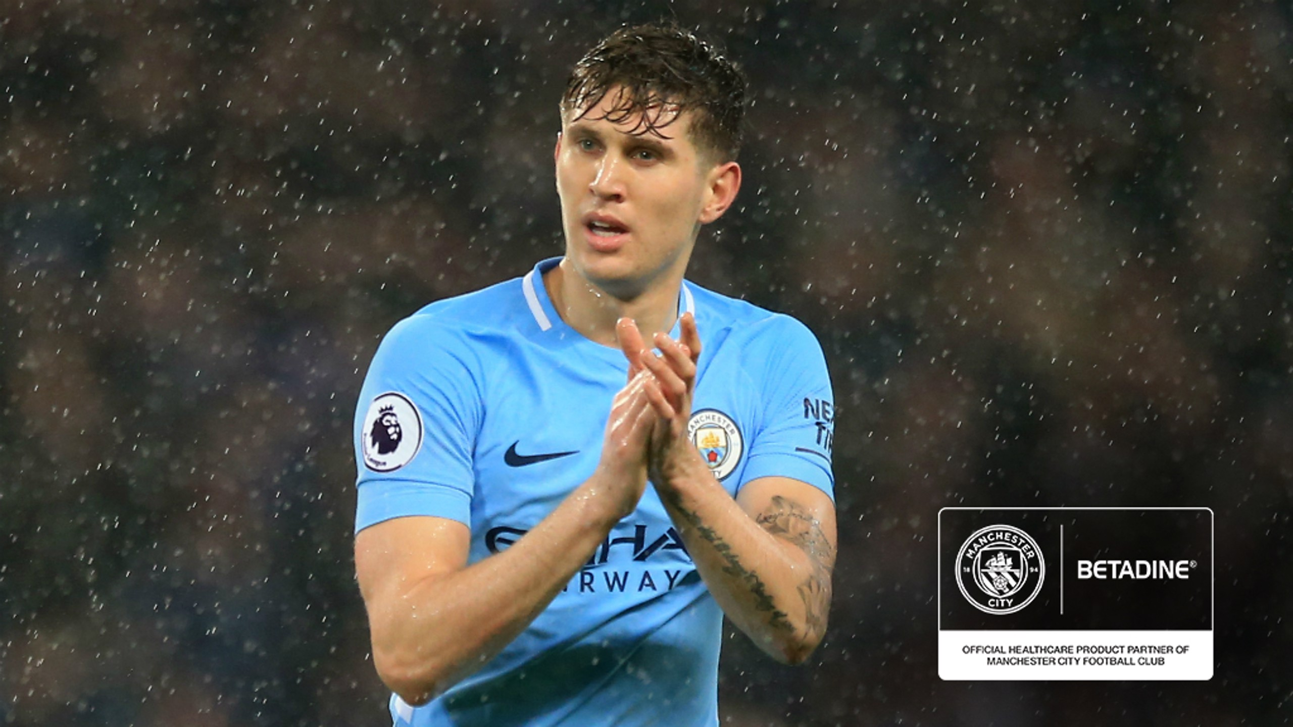 RETURN: John Stones was back in action for City against Watford, following injury