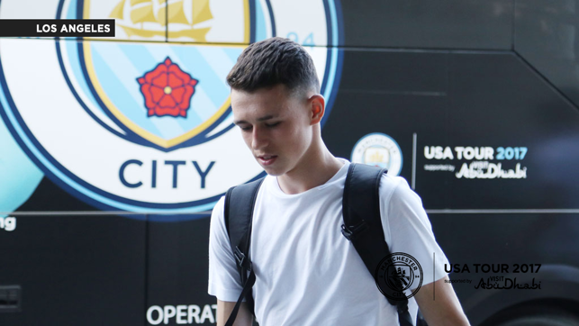 LOS ANGELES ARRIVAL: Phil Foden in DSquared2