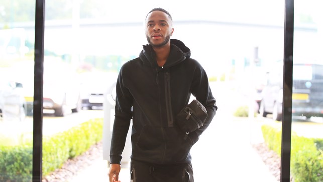 READY: Raheem Sterling strides in