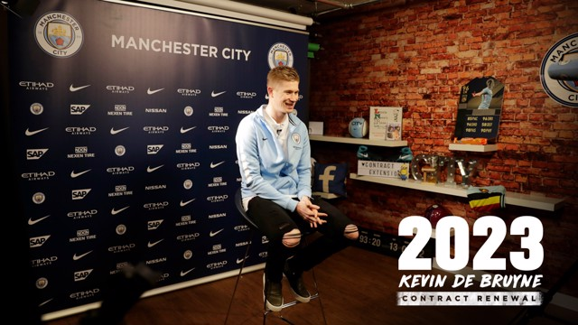BELGIAN BLUE: Kevin De Bruyne has signed a new five-year contract with City, tying him to the Club until 2023.