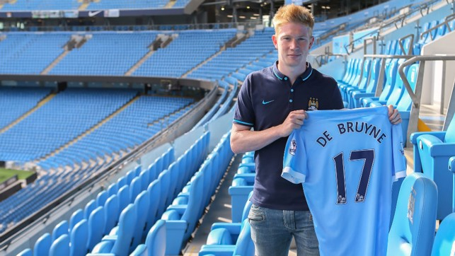 WELCOME ABOARD! De Bruyne signs in August 2015