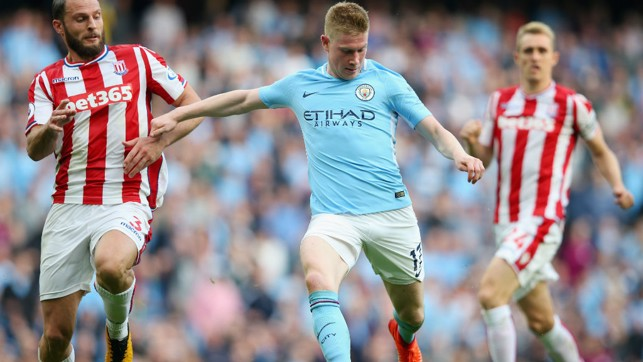 MASTERFUL: De Bruyne during his virtuoso display against Stoke in the 7-2 October win