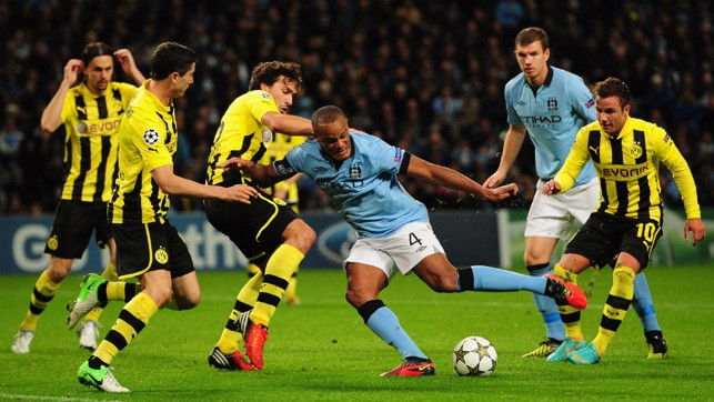 PHYSICAL: Offensive duties against Borussia Dortmund, when a last minute Mario Balotelli penalty rescued a point for the Blues.