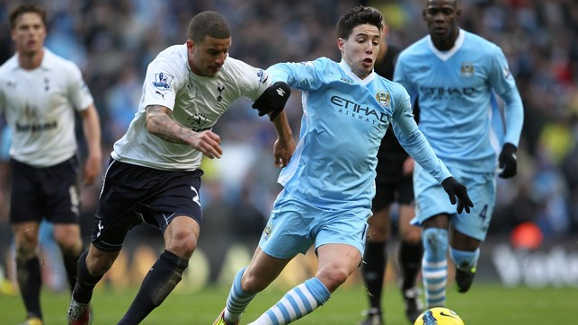 Toe to toe with Samir Nasri against City in 2012