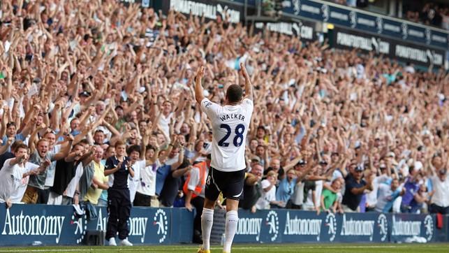 Fantastic shot of Kyle celebrating a victory over Arsenal