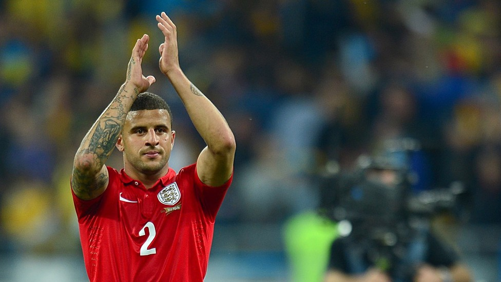 England's No.2! Kyle applauds the travelling England fans