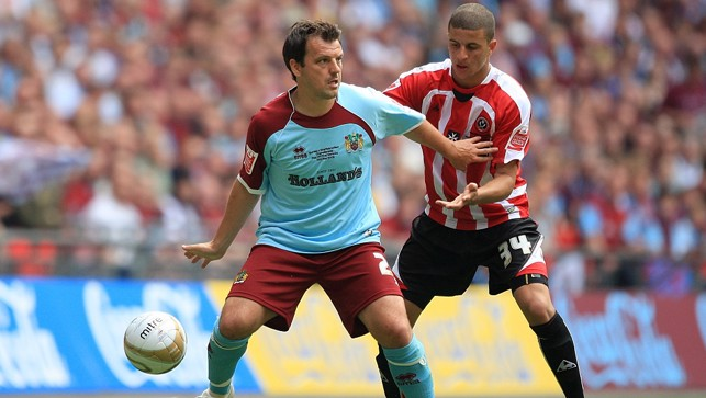 Up against Burnley's Robbie Blake in the play-off final for Sheffield United