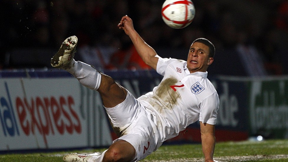 Acrobatic Kyle on international duty for England Under-21s