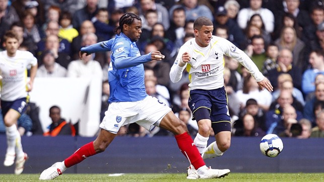 Early Premier League action as a Spurs player for Kyle against Portsmouth