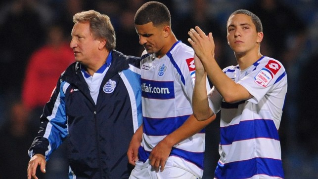 A consoling arm from boss Neil Warnock while on loan with QPR in 2010