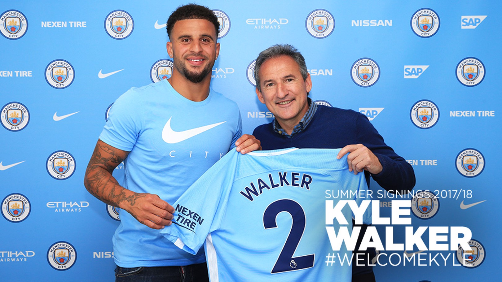 Kyle Walker joins City on five-year deal