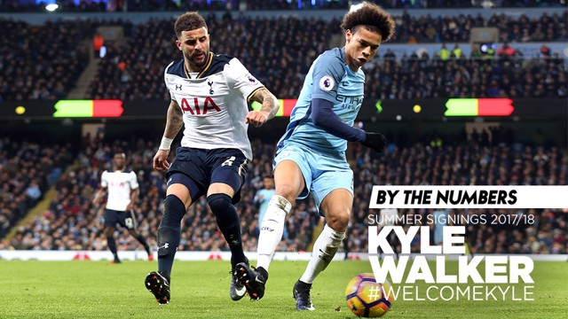STATS: The numbers behind Kyle Walker's career to date.