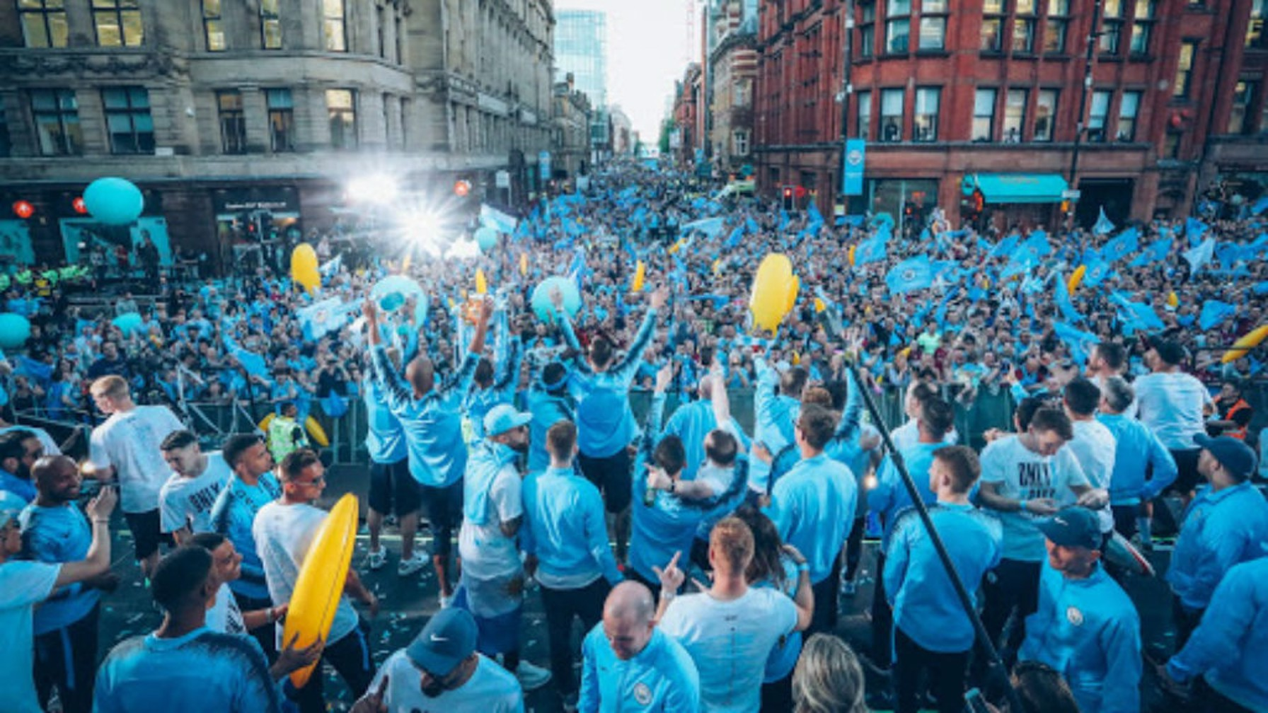EPIC: The streets of Manchester lined with Blue...