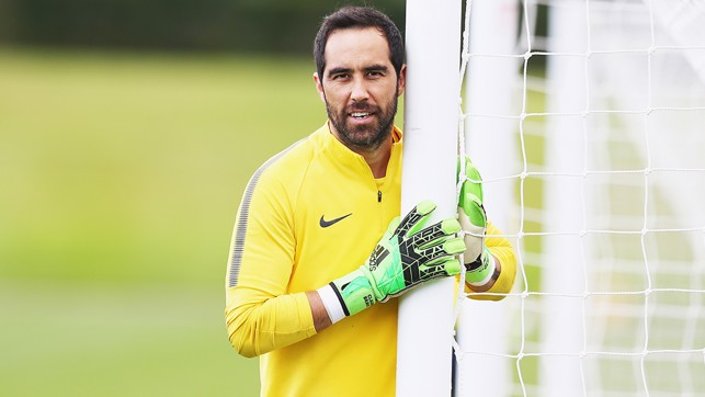 WE SEE YOU: A post-hugging Claudio Bravo