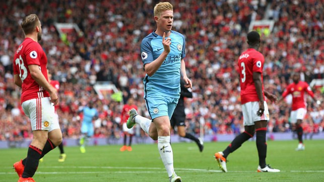 DERBY SUCCESS: A fine 2-1 win at Old Trafford - and KDB scores and assists City goals.