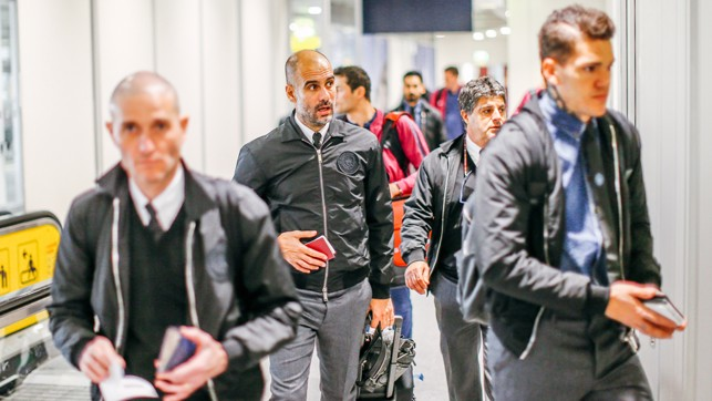 BOSS MAN: Pep is focused on the task in hand