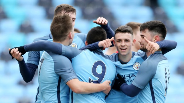 YOUTHFUL EXUBERANCE: Phil Foden produced a string of impressive displays for City's young guns