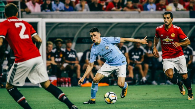 FIRST-TEAM: The midfielder gained senior experience on City's pre-season tour of America