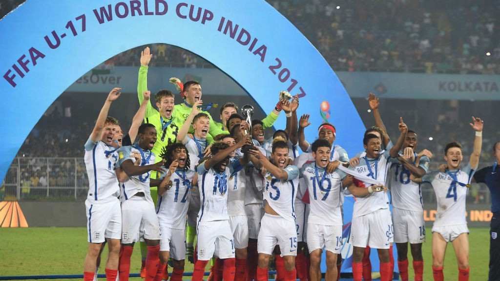 GLORY: Foden starred as England U17s claimed a famous World Cup win, scoring twice in the final against Spain