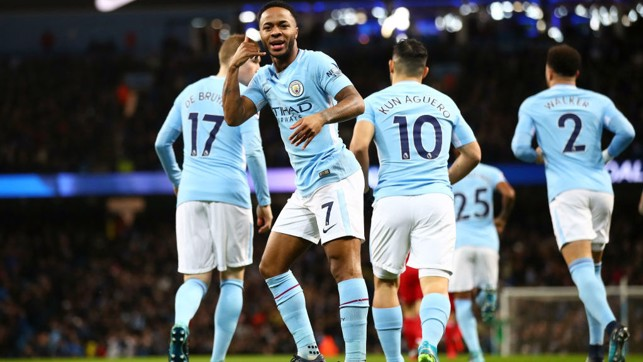 SPEEDY STERLING: Raheem Sterling netted the quickest Premier League goal of the season against Watford in January.