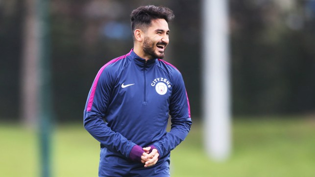 GLAD TO BE BACK: Ilkay Gundogan is enjoying being back in the thick of the action