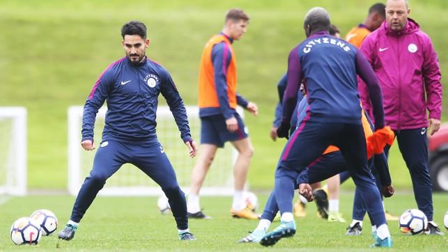 ON THE BALL: Ilkay Gundogan plots his next move