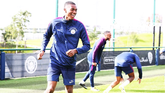 TOSIN TUNE UP: Defender in action during the session