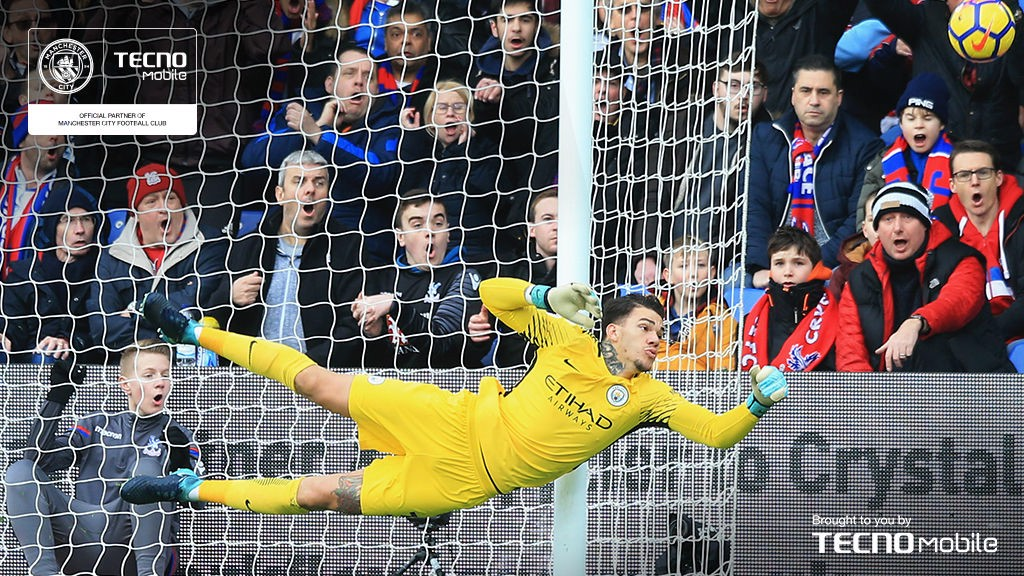 HAND IT TO EDERSON: Our Brazilian goalkeeper enjoyed a stellar first season at the club and his value to the cause was never better illustrated when he made a last-ditch penalty save from Luka Milivojevic to secure a goalless draw at Crystal Palace on New Year's Eve.