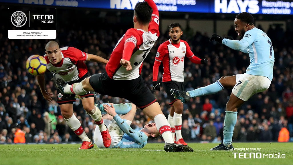 LATE, LATE SHOW: City secured a number of memorable last-gasp wins throughout the season but none were more dramatic than the 2-1 win over Southampton in November where, in the 97th minute, Raheem Sterling curled home a brilliant winner to spark wild scenes of celebration around the Etihad.