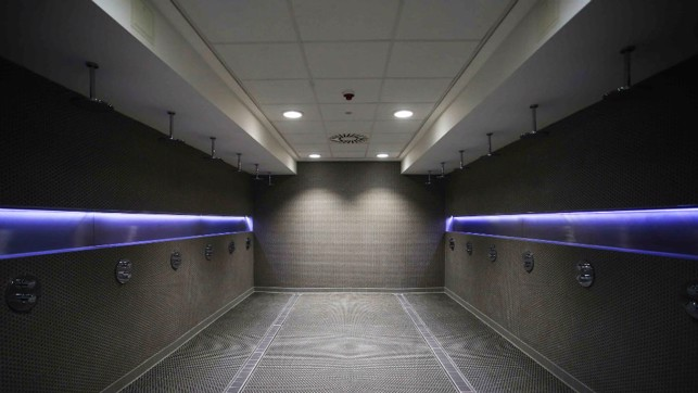 SHOWER TIME: First team facilities