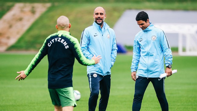 WATCHING ON: Pep assesses the squad
