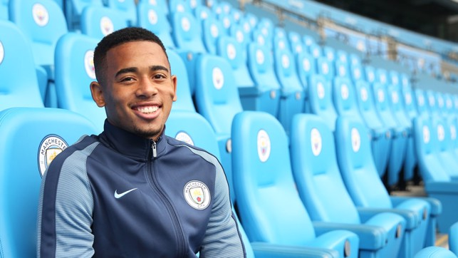 SIGNING: When Gabriel Jesus joined us back in January 2017.