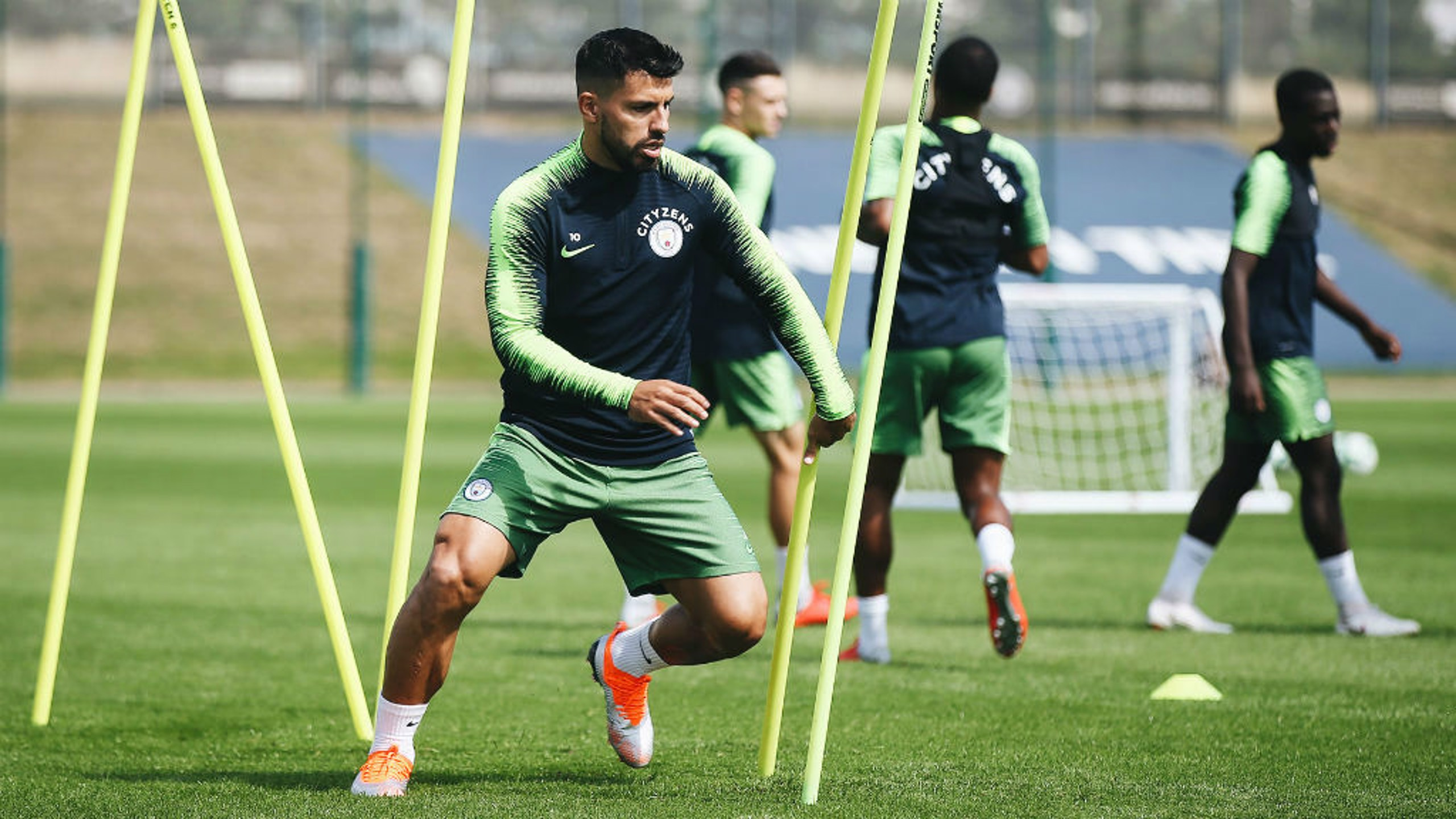 POWER SERGE: Kun is at full throttle as he builds up for Sunday's league opener