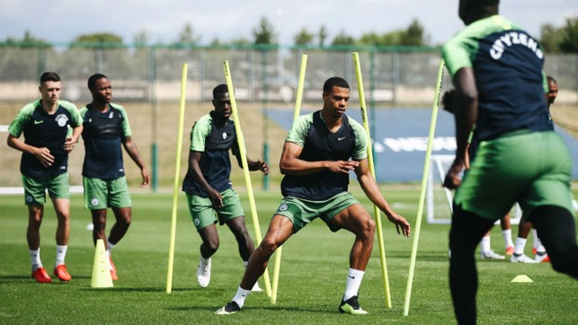 SKIP TO IT: Lukas Nmecha leads the way