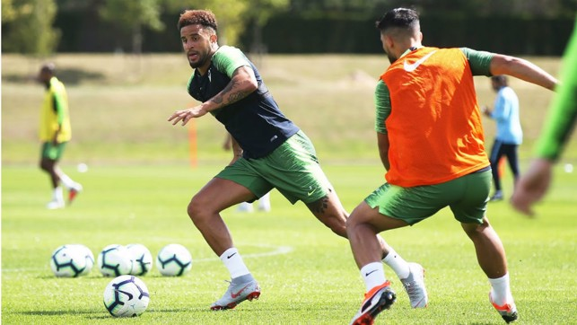 ACTION STATIONS: Kyle Walker powers through the gears as training steps up in intensity