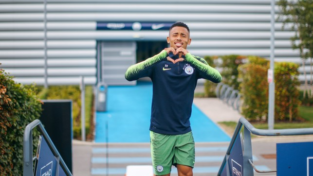 HEART OF THE CITY: Gabriel Jesus is loving being back