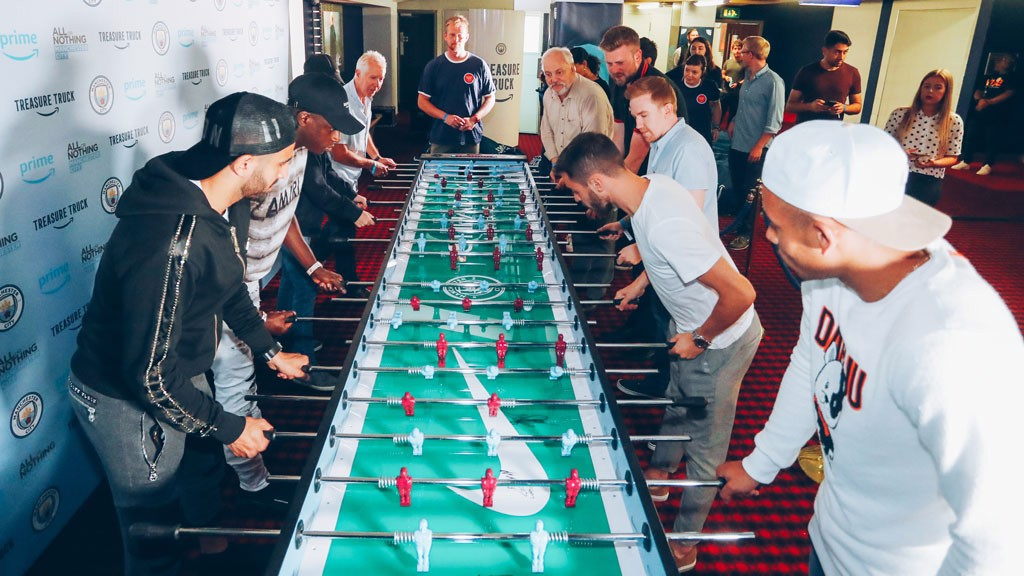 TABLE TOPPING: The longest game of table football ever?!